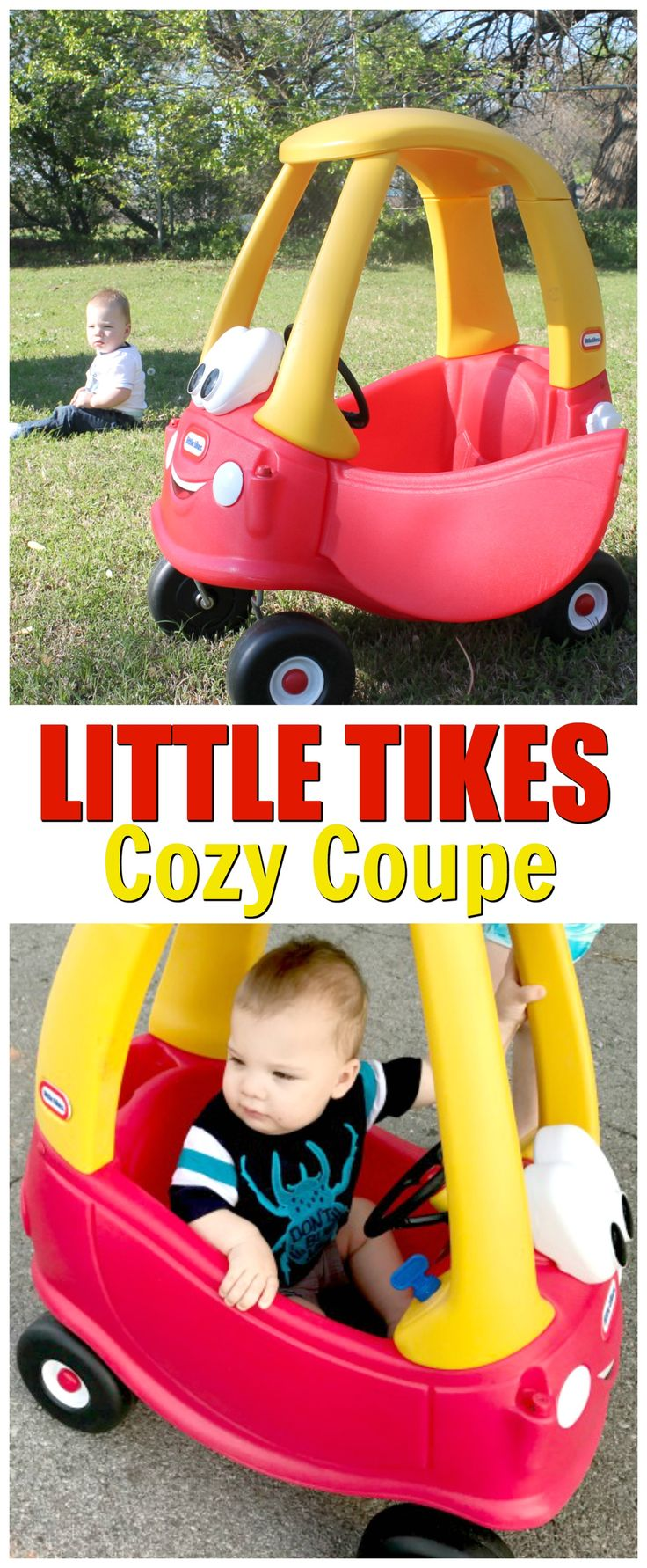 Little tikes cozy coupe outdoor riding car for toddlers this riding toy for toddlers is a great gift for 1 year old boys toddlers love the cozy coupe car