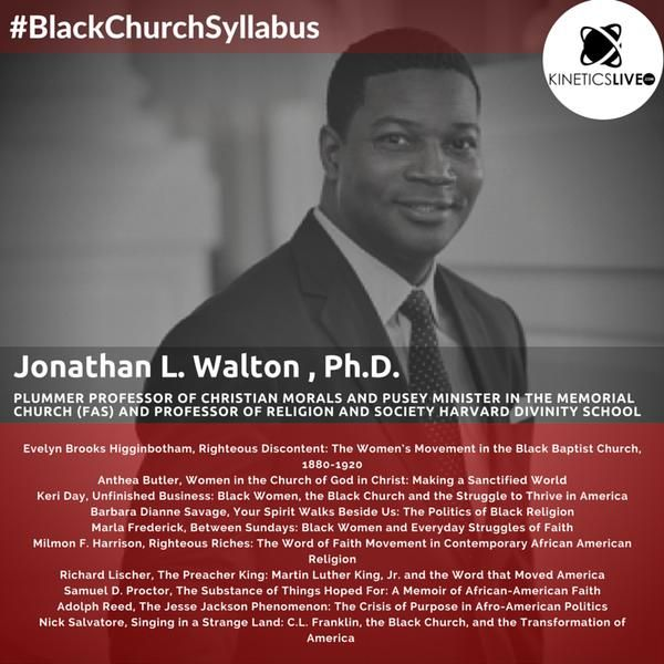 Dr. Jonathan Walton shares his reading list for the #BlackChurchSyllabus