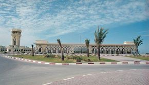 Yasser Arafat International Airport used overlapping arches -- Islamic style.