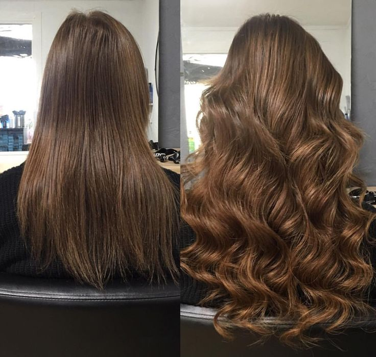 Brunette hair tape extensions hair by Charmaine