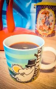 Todays Moomin mug. Moomindaddy relax in the sun thinking about the meaning of life?
