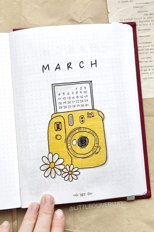 Bullet Journal Monthly Cover Ideas for March 2020 - Crazy Laura Bullet Journal monthly cover page, March cover page, flowers from a gra .Monthly cover of the Bullet Journal, March cover, flowers from a gramophone drawing. Bullet Journal School, March Bullet Journal, Bullet Journal Cover Ideas, Bullet Journal Lettering Ideas, Bullet Journal Banner, Bullet Journal Notes, Bullet Journal Aesthetic, Bullet Journal Writing, Art Journal Pages