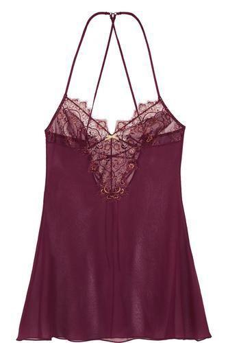 Golden Talisman lace-trimmed silk-chiffon chemise #covetme #ellemacphersonintimates