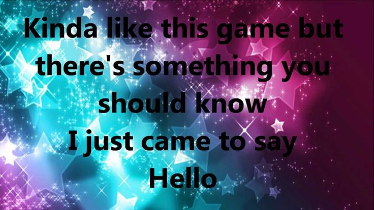 I Just Came to Say Hello - Martin Solveig and Dragonette