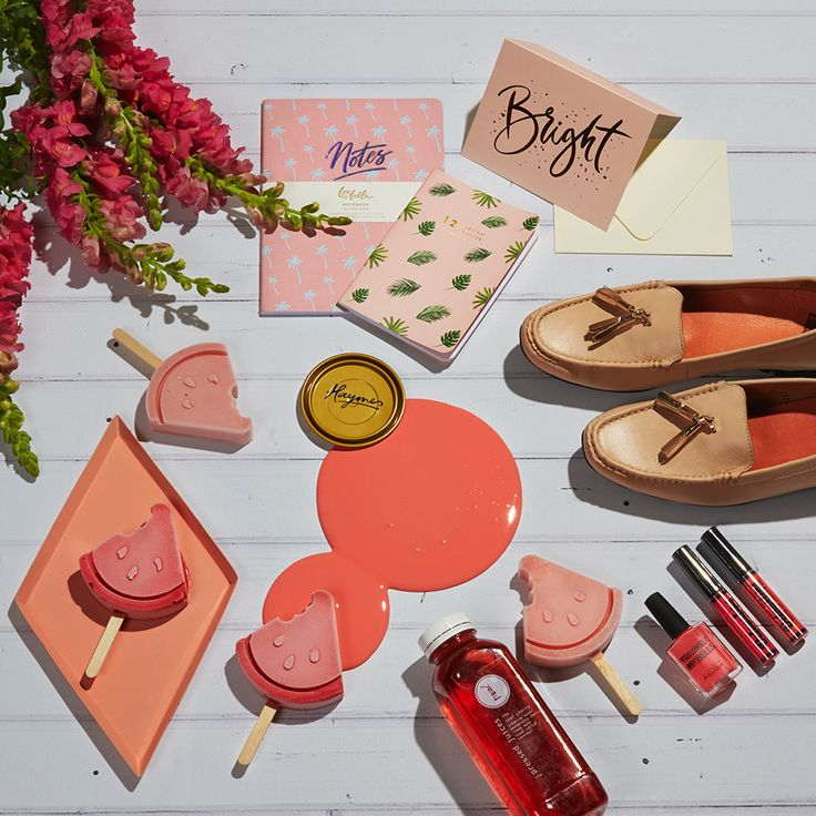 Stand out this holiday season with our Coral Serenade spread.  Colour is Haymes Coral Serenade Styling by LENZO + Photography by Fiona Storey