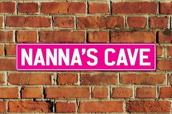 This listing is for one brand new NANNAS CAVE metal sign, made of aluminium composite material with full colour printing, created by Doozi.