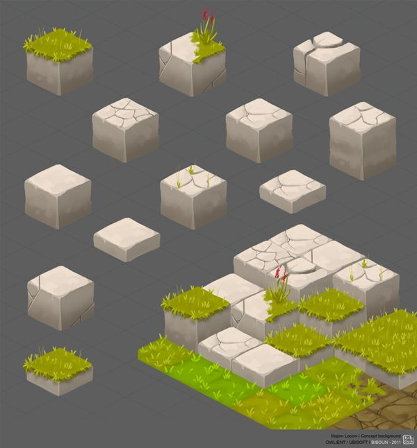 MOJOW-LOCOW terrain tiles game user interface gui ui | Create your own roleplaying game material w/ RPG Bard: www.rpgbard.com | Writing inspiration for Dungeons and Dragons DND D&D Pathfinder PFRPG Warhammer 40k Star Wars Shadowrun Call of Cthulhu Lord of the Rings LoTR + d20 fantasy science fiction scifi horror design | Not Trusty Sword art: click artwork for source