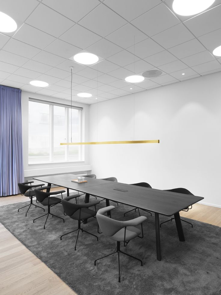 Anour Brass I Model Cordless hanging lamp - OFFICE PROJECT. Pic by Jeppe Sorensen