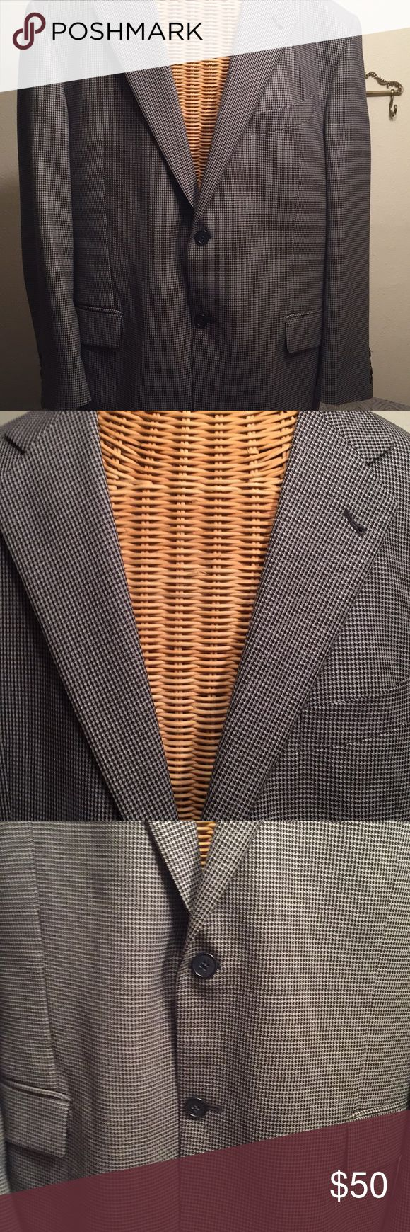 Joseph. Abboud Sports Jacket EUC, black & white houndstooth jacket in perfect condition joseph Abboud for Nordstrom Suits & Blazers Sport Coats & Blazers