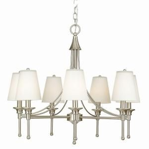 Hampton Bay Sadie Collection Satin Nickel Chandelier At The Home Depot