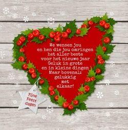 Kerst- en nieuwjaarskaart met bijpassende binnen- en achterzijde + plek voor eigen foto binnen | http://www.kerstkaartensturen.nl/kerstkaarten/kerst-foto-laten-plaatsen