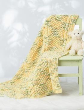 Желтое рельефное одеяло
