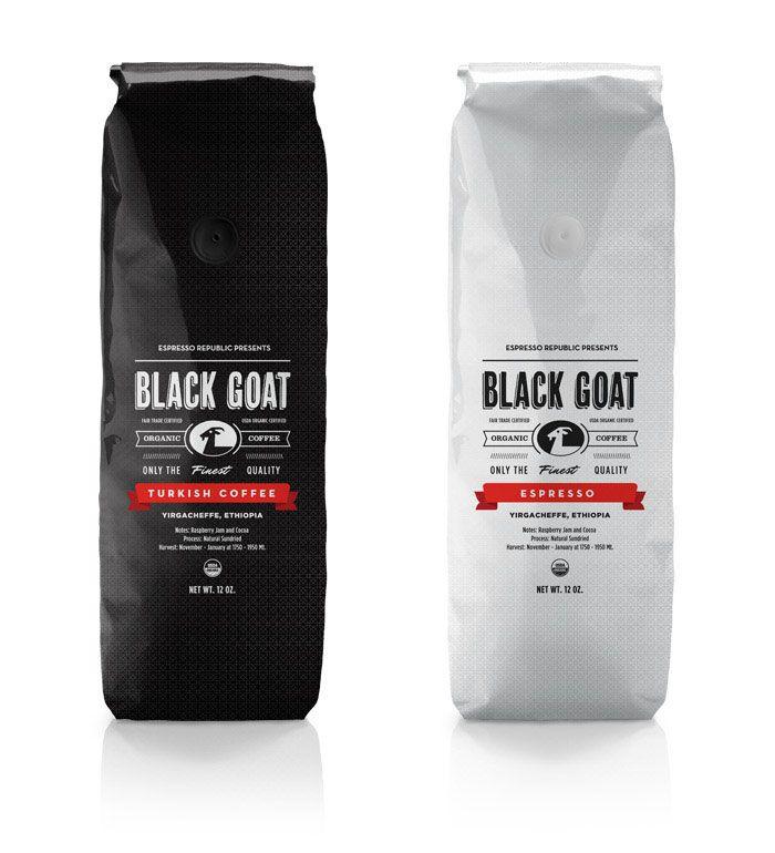 Packaging.Salih Kucukaga, Coffe Packaging, Coffe Design, Black Goats, Coffe Bags, Packaging Design, Coffee Packaging, Turkish Coffee, Goats Coffee