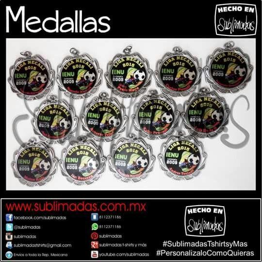 Medallas Personalizadas #SublimadasThirtsyMas #PersonalizaloComoQuieras