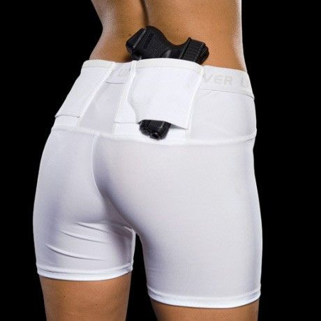 Concealed carry compression shorts
