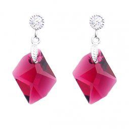 Swarovski Elements Stone Ruby Red Stud Earrings