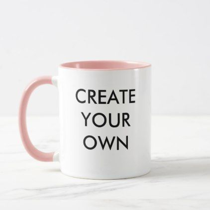 Create Your Own Customizable Combo Mug PINK - create your own gifts personalize cyo custom