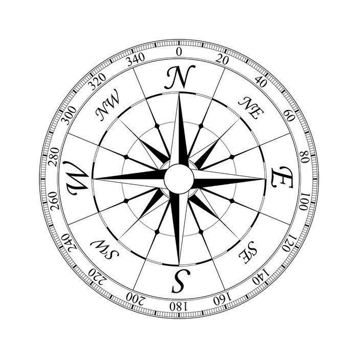 Naklejka na Ścianę Kompas 2 365 dni na zwrot ✓ Miliony wzorów ✓ 100% Eco-Friendly ✓ Profesjonalna obsługa i doradztwo ✓ Skonfiguruj online!