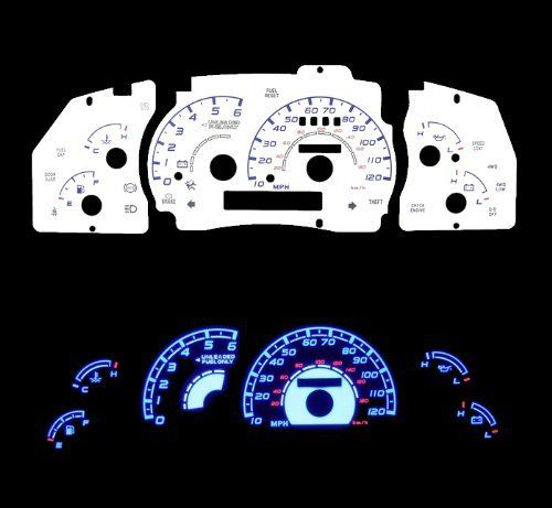 95-01 Ford Ranger with Tach White Glow Light Glow Gauge by HIGH PERFORMANCE PARTS. $32.00. Specification: Gauge Faces are Anti-Glare and Scratch Resistant Surface. Each kit comes with all accessories: Complete Wiring, Adjustable Power Inverter, Power switch and Gauge Faces