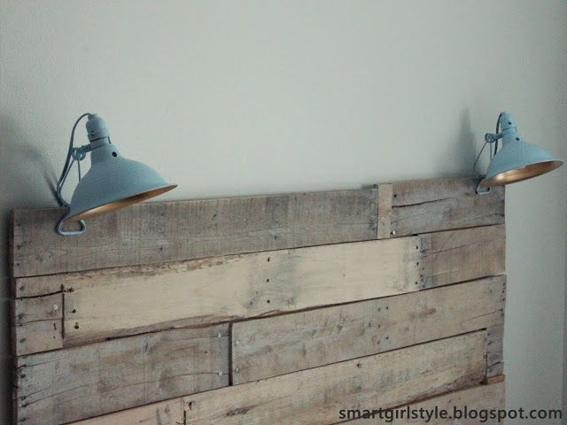 Bedroom Makeover: Reading Lamps -- cheap clamp lamps from Lowe's, spray painted!
