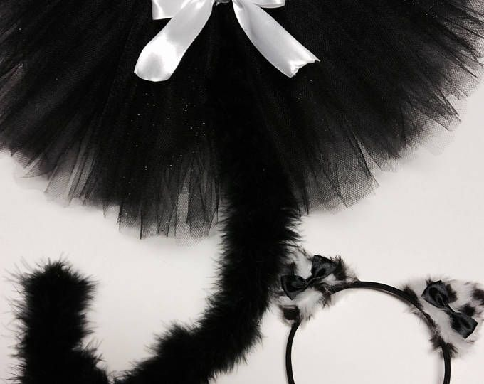 Cat costume, black white cat costume,adult cat costume, baby cat costume, halloween cat costume, black cat tutu, girl cat costume