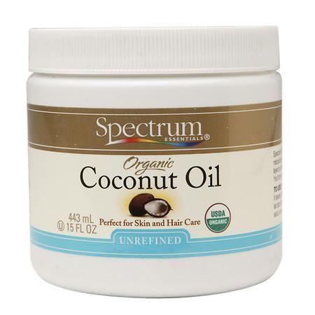 Spectrum Essentials Organic Coconut Oil, Unrefined - 15 oz.
