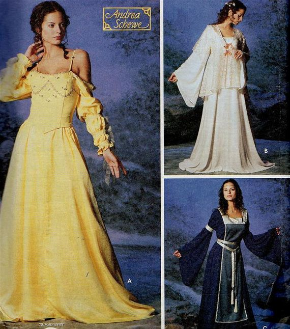 Renaissance Bridal Gown Sewing Pattern Princess Dress: Simplicity 5843 Star Wars Padme Costume Pattern Corset