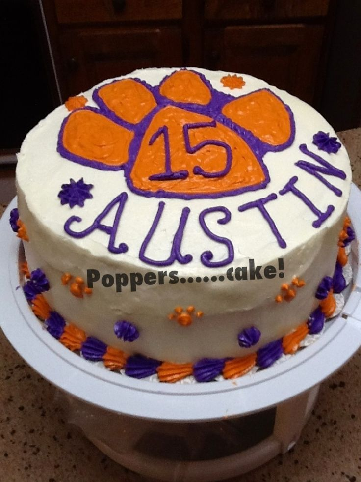 Best My Cakes Images On Pinterest Birthday Cakes Birthday - Clemson birthday cakes