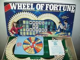 Wheel of Fortune board games 80's