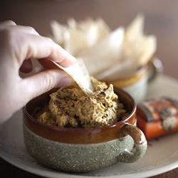 Roasted Eggplant Dip With Spiced Pita Crisps Recipes — Dishmaps