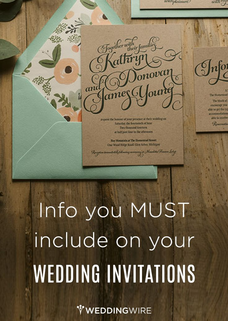 Info You Must Include on Your Wedding