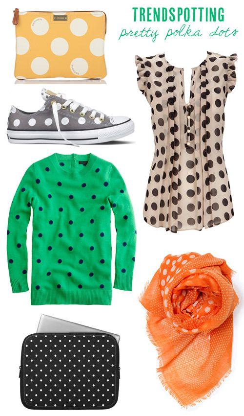 Pretty polka dot fashions from Babble.com