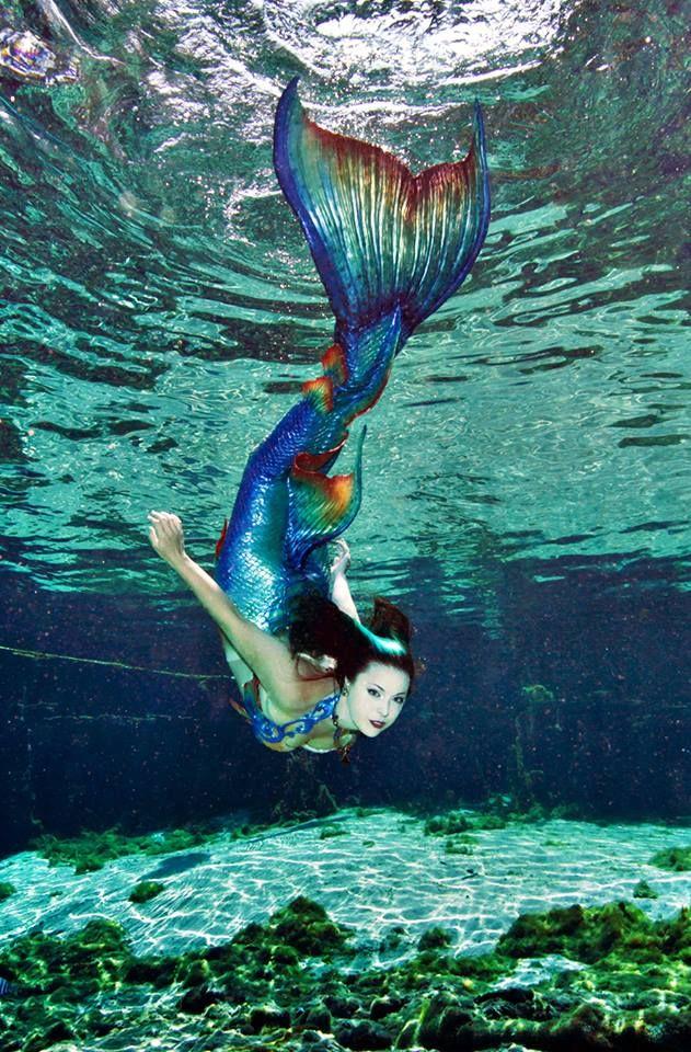 Mermaid Raven  Photo by Andrew Brusso   Tail & Top: Merbella Studios   Location: Weeki Wachee Springs FL