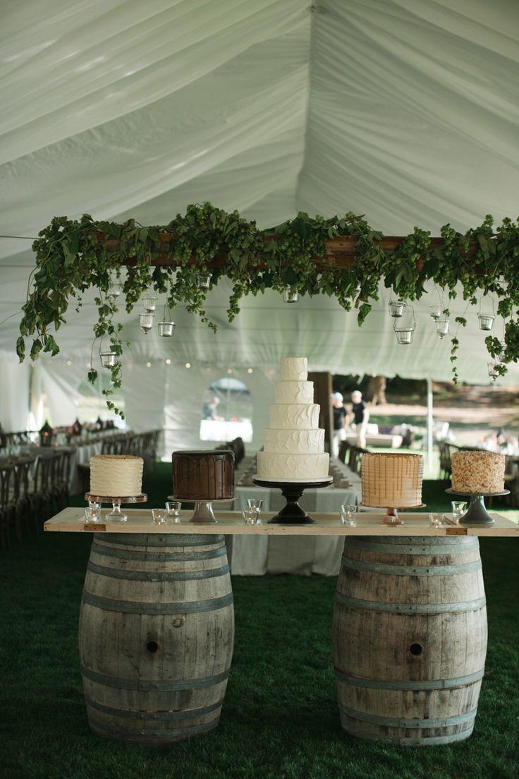 Wine Barrel Wedding Cake Table Wedding Different Cakes