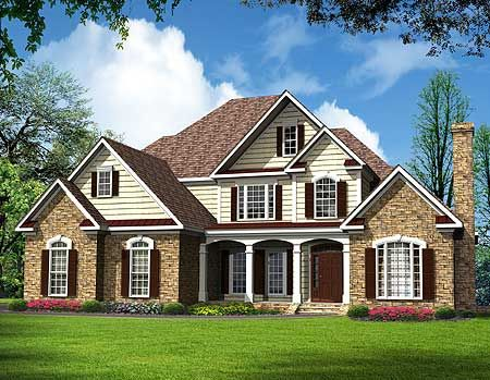 Plan 36021dk two big bow windows big bows house plans for Bow house plans