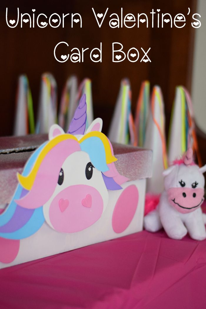 Make a DIY Unicorn Valentine's Day Card Box for collecting those sweet valentines AD