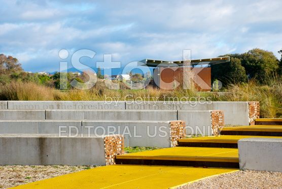 Waterfront Park, Mapua Wharf, Tasman Region, new Zealand royalty-free stock photo