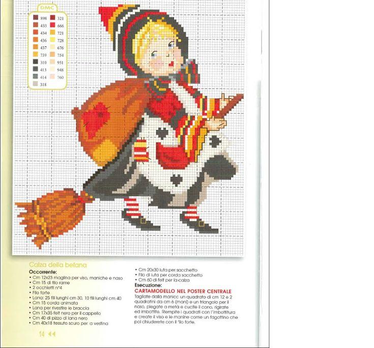 ricamo natalizio punto croce su tela rossa - Cerca con Google