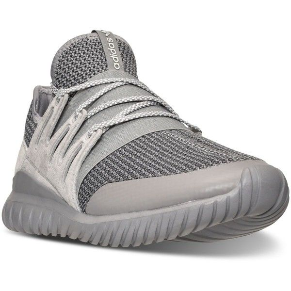 adidas Men's Originals Tubular Radial Casual Sneakers from Finish Line ($110) ❤ liked on Polyvore featuring men's fashion, men's shoes, men's sneakers, adidas mens sneakers, adidas mens shoes, mens shoes and mens sneakers