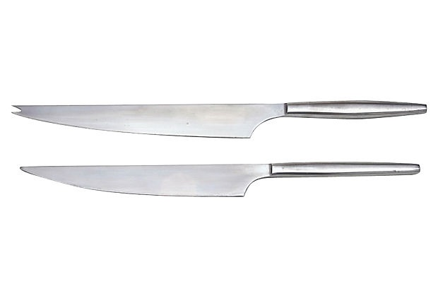 Midcentury Italian Cheese Knives, Pair on OneKingsLane.com