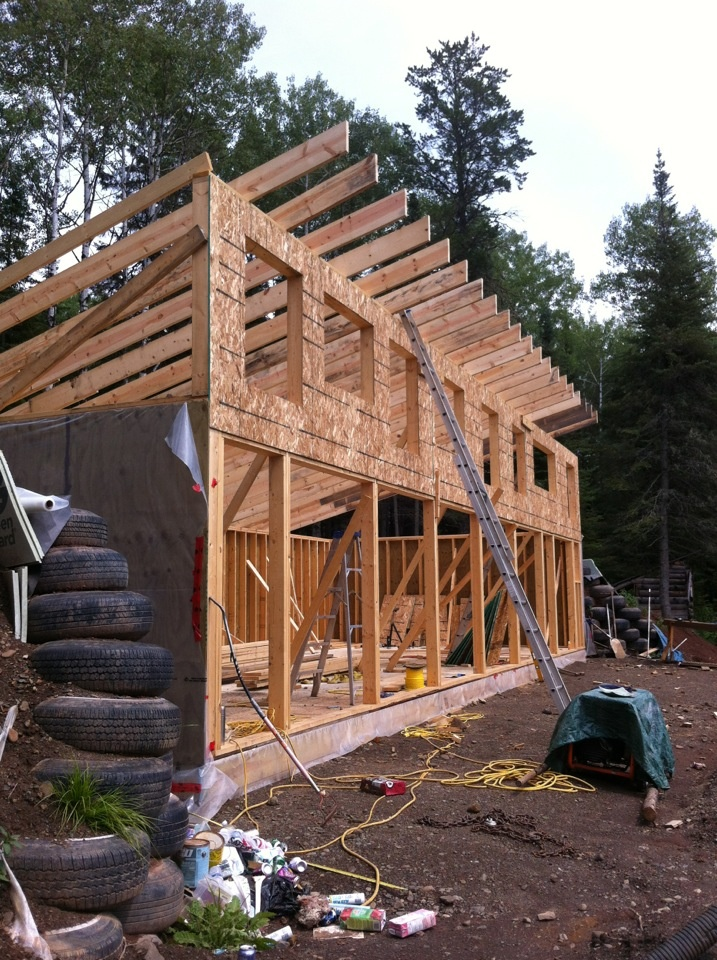 Framework of the house in our climate we decided to for Foundation tiny house builders