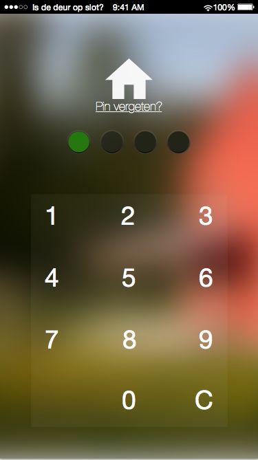 Is de deur op slot pincode veld