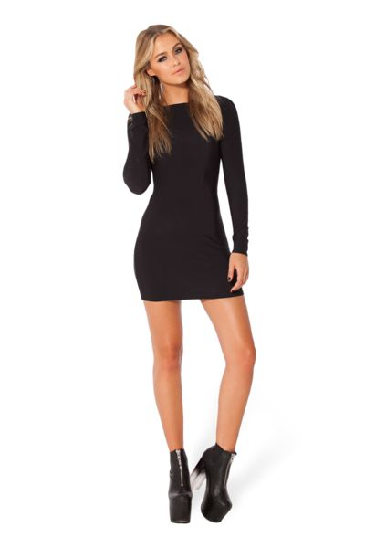 Warm Grey Long Sleeve Dress › Black Milk Clothing 90 AUD