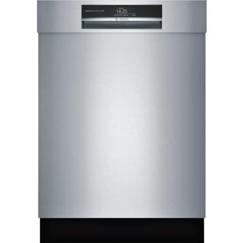 Bosch SHEM78WH 24 Inch Wide 16 Place Setting Energy Star Built-In Semi Integrated Dishwasher with Express Cycle and Home Connect, Silver STAINLESS STEEL