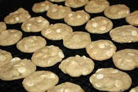From the Ghirardelli Macadamia White Chip Cookies recipe on the back of the Ghirardelli Classic White Chips package ...