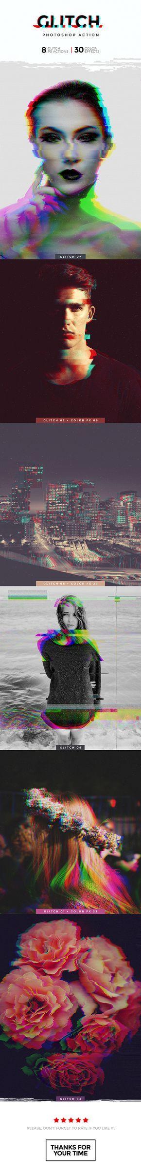 Glitch Photoshop Action — Photoshop ATN #music #pixels • Download ➝ https://graphicriver.net/item/glitch-photoshop-action/19144570?ref=pxcr