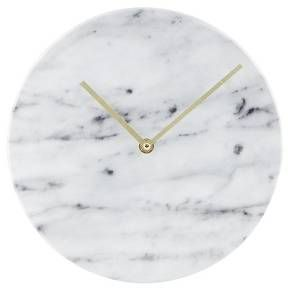 "Faux-Marble Wall Clock Black 10"" - Threshold™ : Target"