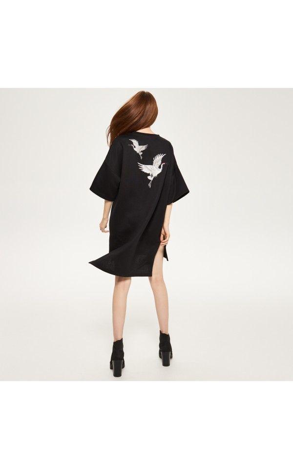 Sukienka z orientalnym wzorem, Sukienki, kombinezony, czarny, RESERVED