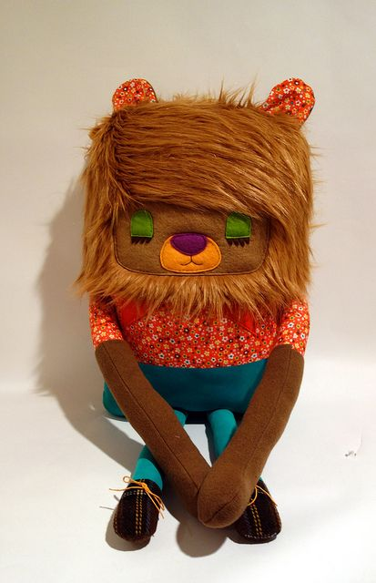 Large softie Eunice the Lion | Designed and handmade by Jenny Smith Plush Artist 2013