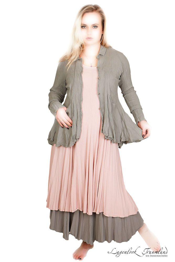 Der leichte Stoff in gecrashter Baumwolle wird etwas weiter sobald man die Jacke kurz trägt ! Er ist sehr pflegeleicht. waschen, aufhängen und wieder anziehen. Die durchgehende Knopfleiste ist mit kleinen Knöpfchen verziert.   eBay!